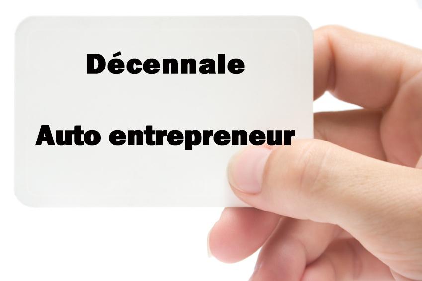 Décennale Auto Entrepreneur